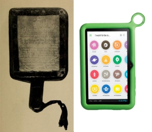 Hornbook, 1700. XO Tablet, 2013.